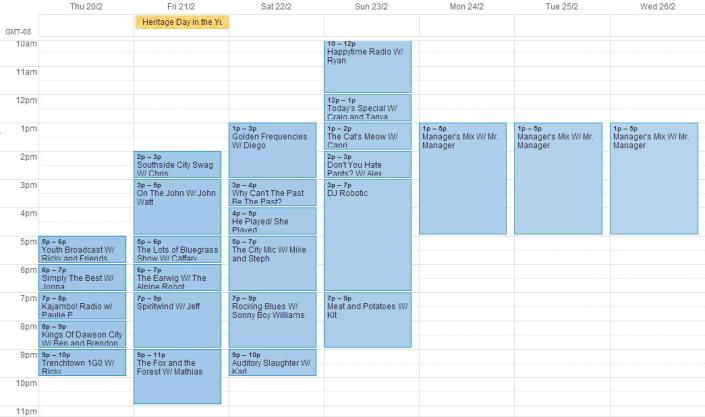 schedule for feb 20-26