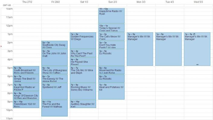 schedule for feb27- mar5