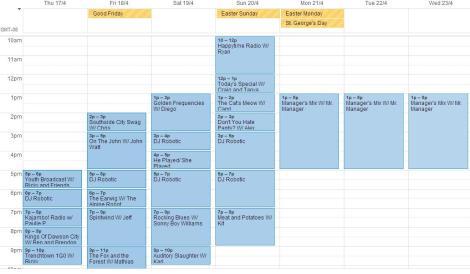 april 16-23schedule