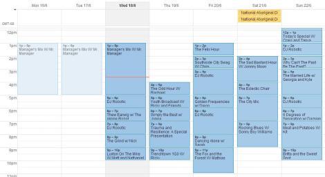 june 16-22schedule